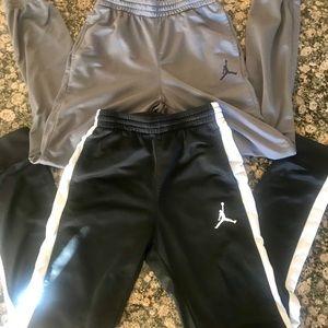 2 pair youth Jordan athletic pants